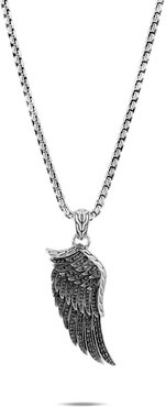 Legends Eagle Wing Pendant Necklace in Sterling Silver