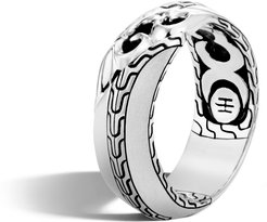 Classic Chain Keris Dagger 8MM Band Ring in Sterling Silver