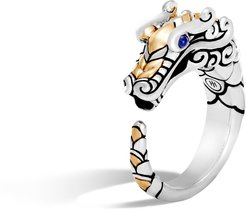 Legends Naga Ring in Brushed Sterling Silver and 18K Gold