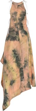 Galapagos Tie-Dye Linen-Blend Midi Dress