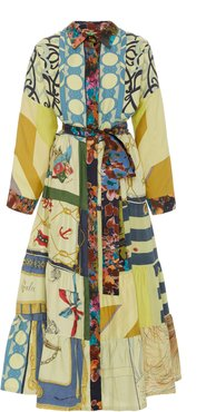 Exclusive One Of A Kind Patchwork Volant Shirt Dress