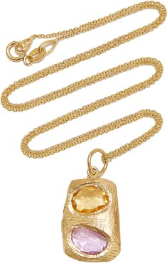 Tablet Sapphire 18K Gold Necklace