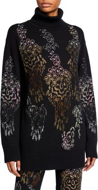 Overflowing With Love Cashmere Jeweled Floral Sweater