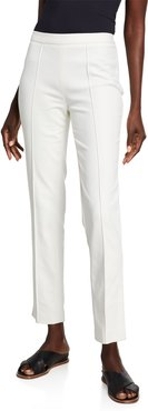 Maurice Seamed Compact Cotton Side-Zip Pants