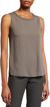 Stitched-Neck Tank Top