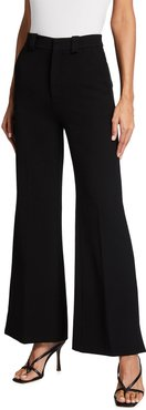 Dilman Mid-Rise Cropped Flare-Leg Pants