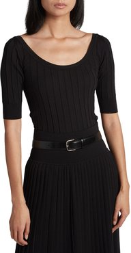 Colombe Ribbed Scoop-Neck Top