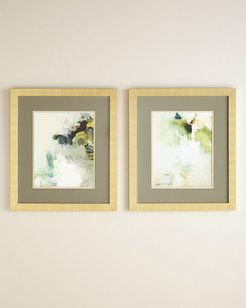 "Two ""Overjoyed"" Abstract Giclee on Canvas Wall Art Set"