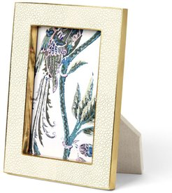 """Cream Shagreen 5"""" x 7"""" Picture Frame"""