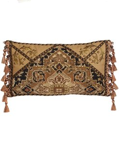 """Casablanca Envelope Pillow with Side Tassels, 23"""" x 13"""""""