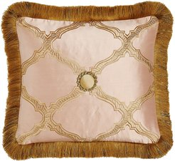 """Versailles Reversible Pillow with Fringe, 15"""" x 14"""""""