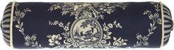 """Country Toile Neck Roll Pillow, 6"""" x 20"""""""