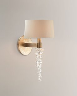 "Cascading Crystal Waterfall 14"" Sconce"