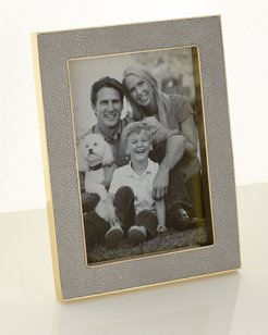 """Classic Dove Faux-Shagreen 5"""" x 7"""" Frame"""