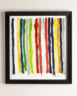 """All of My Colors Stripes"""" Giclee on Paper Wall Art"""""""