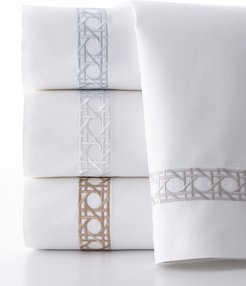 Twin 2-Piece Cane-Embroidered Duvet Set