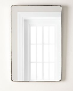 """Stainless Steel Curved Rectangle Mirror, 24"""" x 36"""""""