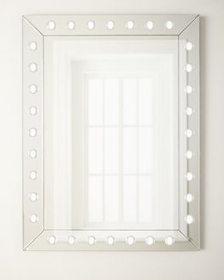 Rectangle Mirror with Acrylic Knobs