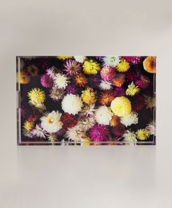 Bunch of Flowers Acrylic Serving Tray