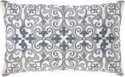 Darboux Scroll Embroidered Decorative Pillow