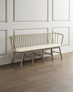 Lora Leather Spindle Bench