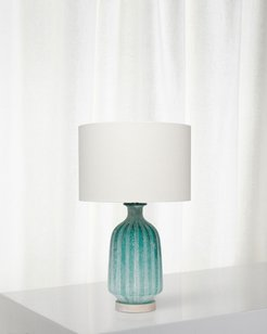 Frosted Glass Table Lamp, Aqua