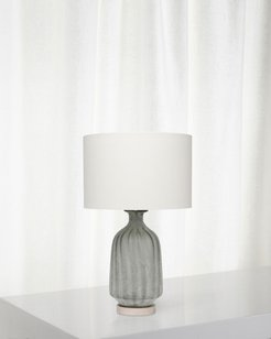Frosted Glass Table Lamp, Grey