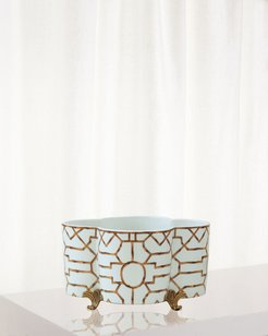 Scalamandre for Port 68 Baldwin Quatrefoil Planter