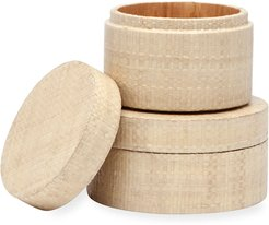 Koba Round Canisters, Set of 2