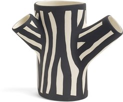 Small Zebra-Print Tree Trunk Vase