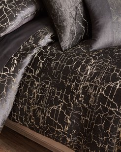 Black Onyx Full/Queen Duvet Cover