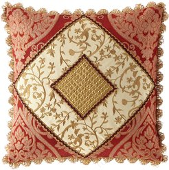 Fontenay Pieced Boutique Pillow with Scallop Fringe