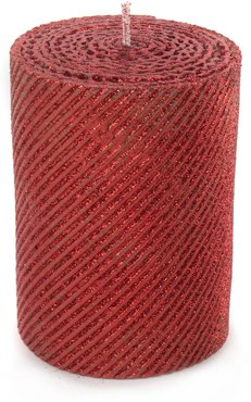 Red Shimmer Pillar Candle