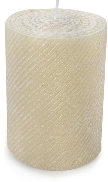 Shimmer Pearl Pillar Candle
