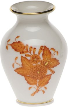 Chinese Boutique Rust Small Bud Vase with Lip