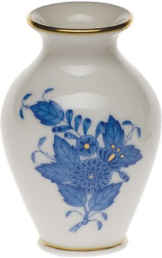 Chinese Bouquet Blue Small Bud Vase with Lip
