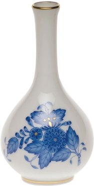 Chinese Bouquet Blue Small Bud Vase