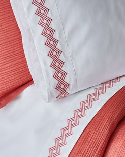 Amalfi Standard Embroidered Pillowcases, Pair