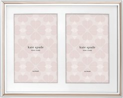 """rosy glow 5"""" x 7"""" double invitation picture frame"""
