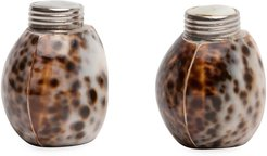 Nora Tiger Cowrie Salt & Pepper Shakers, Set of 4