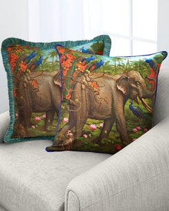 Jungle Of Happiness Accent Pillow