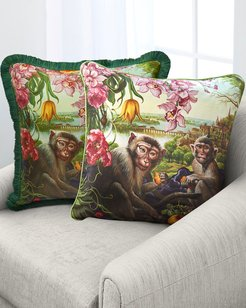 Monkey Falling In My Dream Accent Pillow