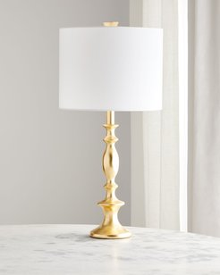 Gold Leaf Spindle Table Lamp