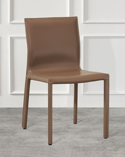 Pair of Bianca Dining Chairs, Cappuccino