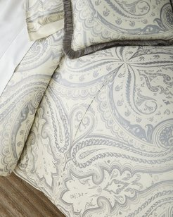 Poisson Quilted King Duvet Set