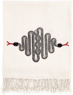 Snake Embellished Throw