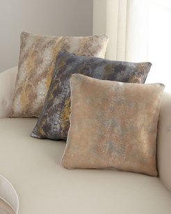 """22"""" Oil Printed Suede Pillow"""
