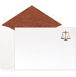 Justice Scales Stationery - Boxed Set of 12