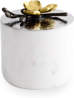 Gold Orchid Small Luxe Marble Candle
