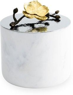 Gold Orchid Large Luxe Marble Candle